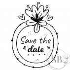 Sello de caucho para boda Save the date